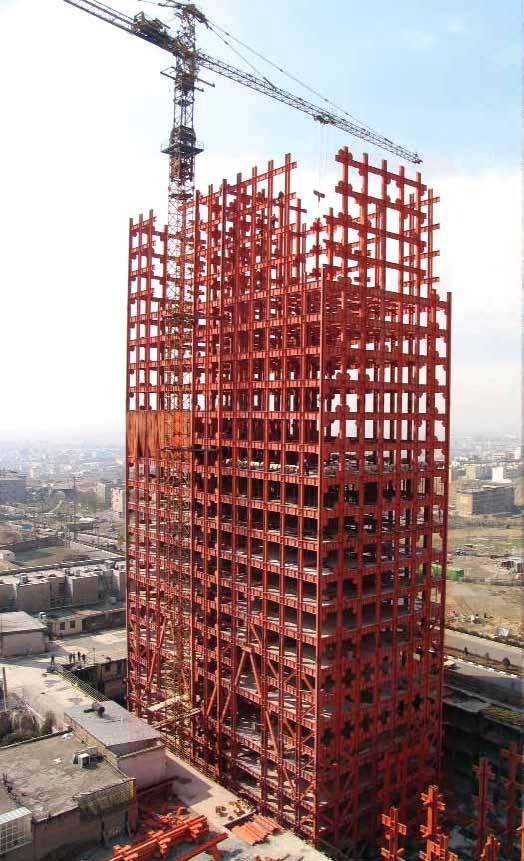 architecture - ساختمان بااسکلت فلزی